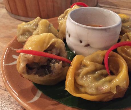 Very tasty vegan dumplings at Jaan Bai