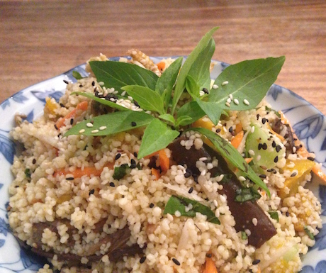 Tasty cous cous salad that won us over.
