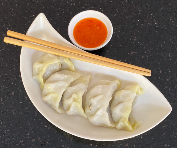 Monorom Garden Battambang vegan dumplings