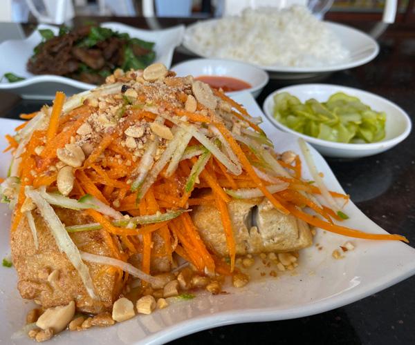 Monorom Garden Battambang vegan tofu