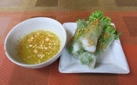 So happy we know how to make these fresh spring rolls now.
