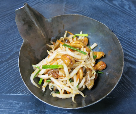 'Lort cha' are short rice noodles in a spicy, rich sauce.