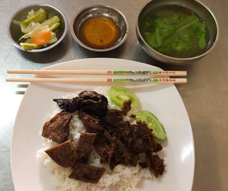 vegan food at Vegetarian Foods Restaurant in Battambang