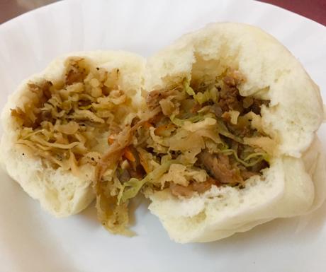vegan bao at Vegetarian Foods Restaurant in Battambang