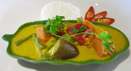 Delicious vegetable curry for lunch.