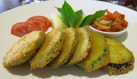 fried aubergine fritters