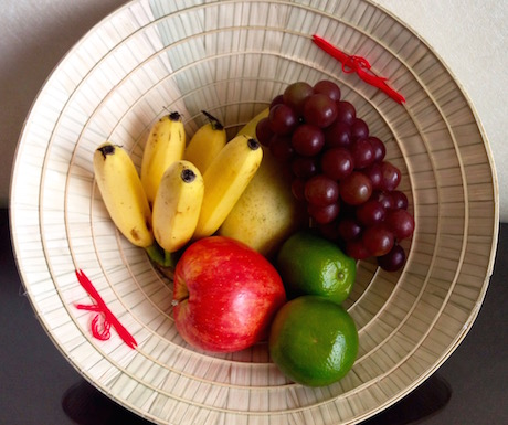We really liked the fruit basket welcome in our room, in a traditional Vietnamese hat.