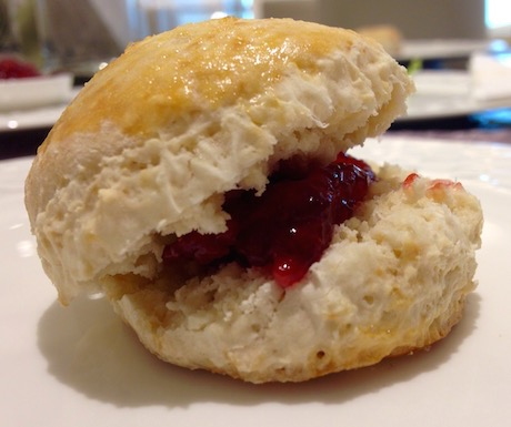 We were so excited to enjoy vegan scones with our afternoon tea.