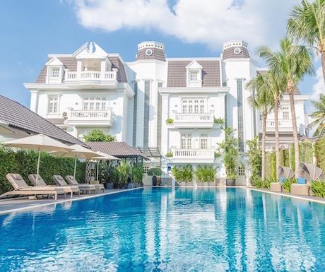 swimming pool at Villa Song