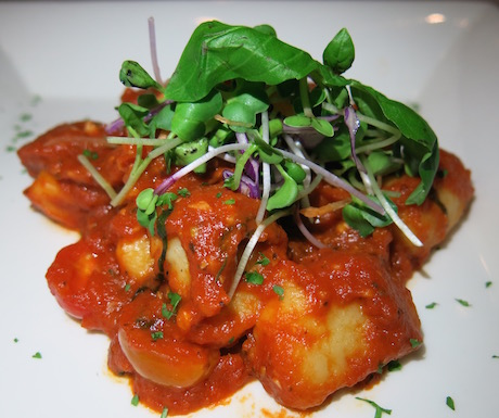 Home made potato gnocchi with fresh tomato sauce.