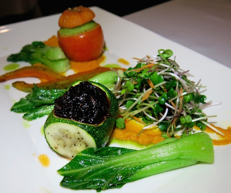 A symphony of plant-based ingredients on our plate for our final vegan meal at Villa Song