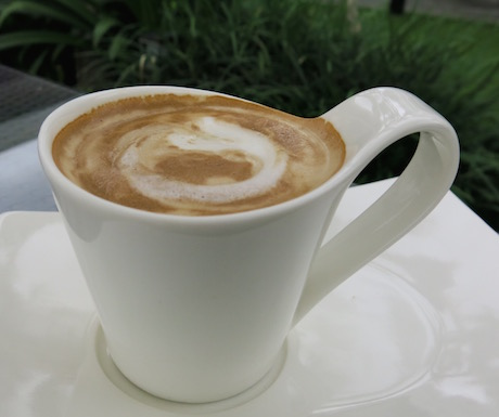 Soya cappuccino is a great way to start your day.