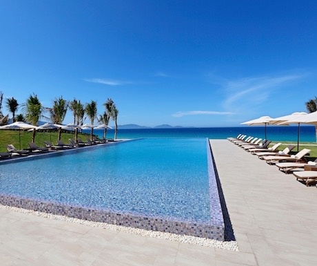 The infinity pool is huge with awesome views of the ocean.