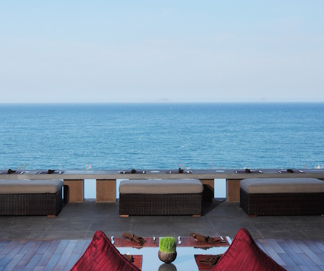 We loved the far reaching sea views from Mojitos.