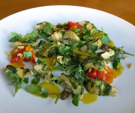 vegan and plant based artichoke salad at Mia Resort Nha Trang