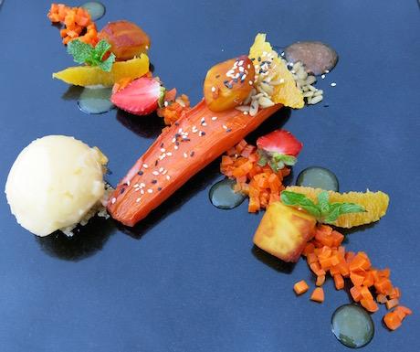 artistic and creative vegan dessert platter at Mia Resort Nha Trang
