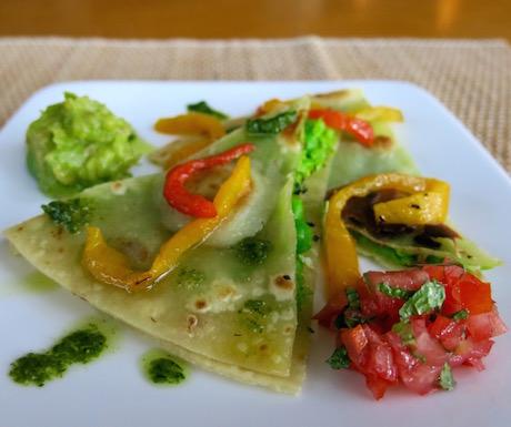 vegan Mexican fusion creation at Mia Resort Nha Trang