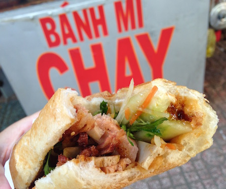 These are the real deal - delicious banh mi chay.