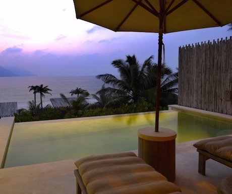 Watch the sunset over your private pool with far reaching sea views.