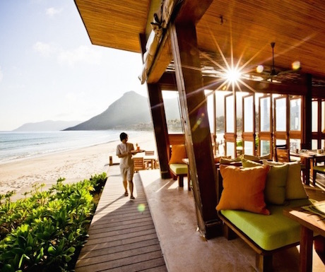 By The Beach at Six Senses Con Dao.