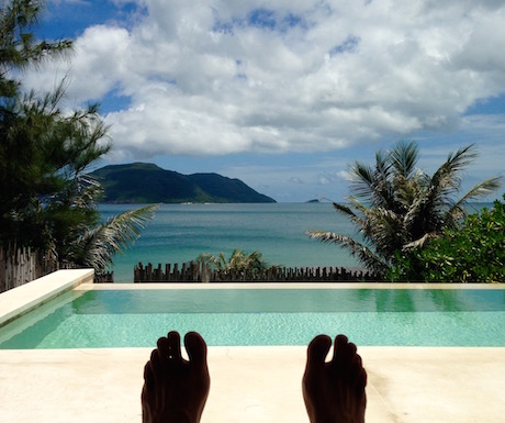 We got very used to this view over our private pool.