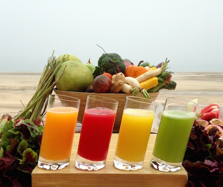 Fresh plants made into delicious juices.