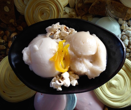 complimentary vegan sorbet at Six Senses Con Dao
