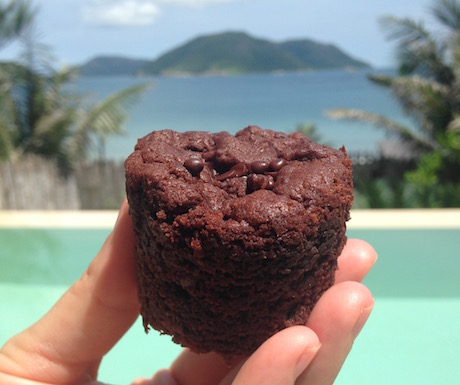 Chocolate cake with a view...
