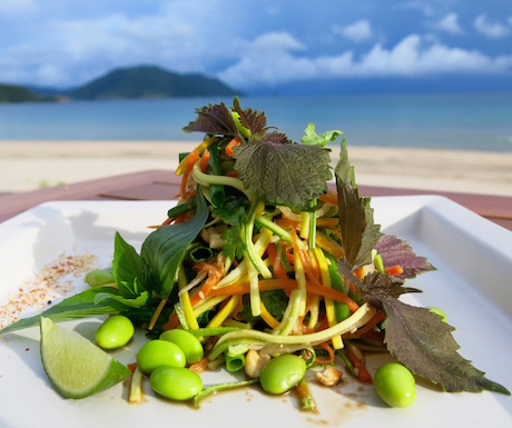 healthy, delicous and beautiful salads at Six Senses Con Dao