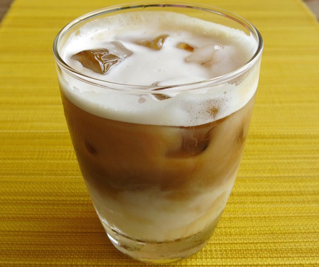 Iced Almond milk latte
