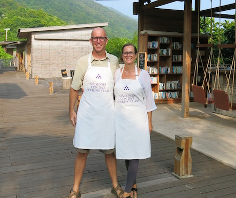 vegan cooking school at Six Senses Con Dao