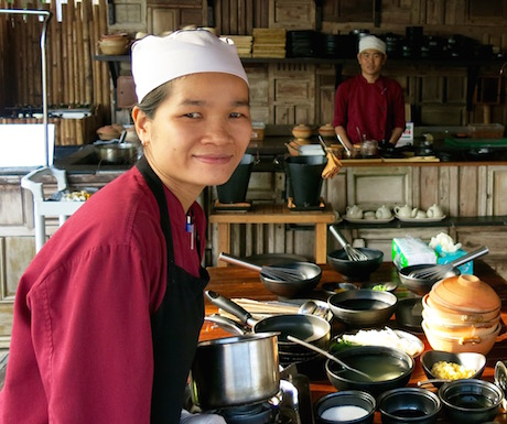 vegan cooking class with expert Vietnamese Chef No at Six Senses Con Dao