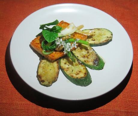 Marinated tofu with vegetables at Six Senses Ninh Van Bay