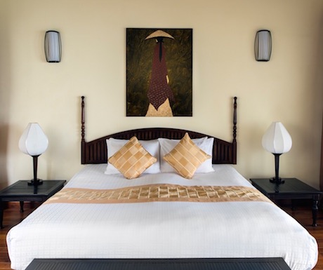 feather free bed in our ocean facing deluxe room at Victoria Hoi An Beach Resort