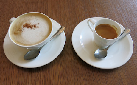 The perfect start to any day; a soya latte with a double espresso chaser.