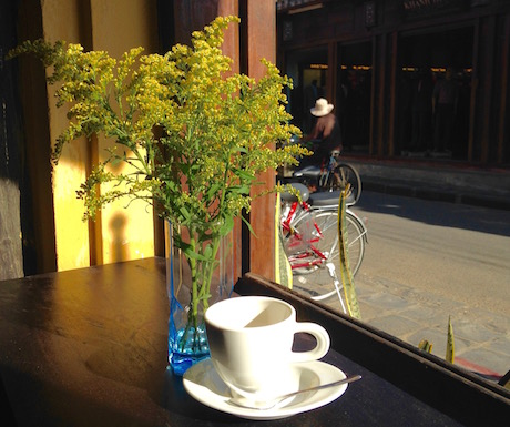 Enjoy a vegan coffee and watch the world go by at Faifoo in Hoi An.