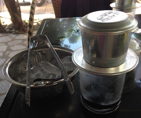 We love plenty of ice with our Vietnamese coffee.