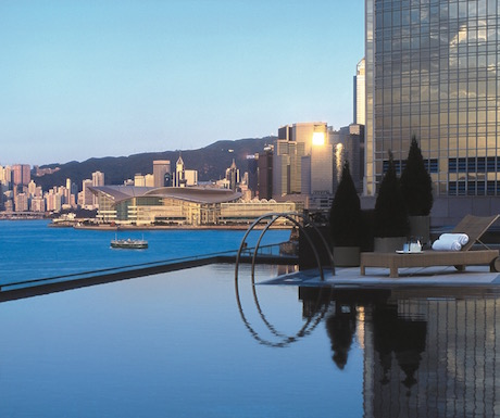 swimming pool with an amazing view of Victoria harbour