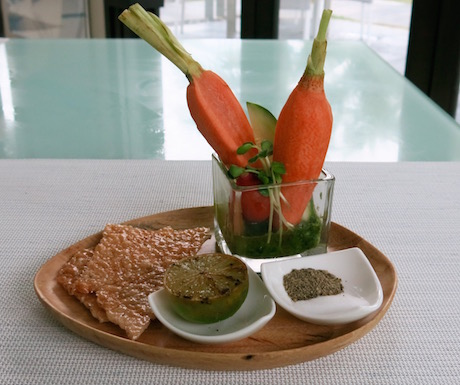 vegan 'vegetable garden' at Fusion Maia Danang