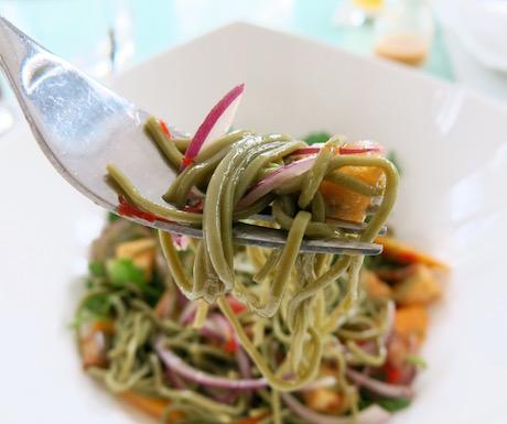 vegan soba noodle salad at Fusion Maia Danang