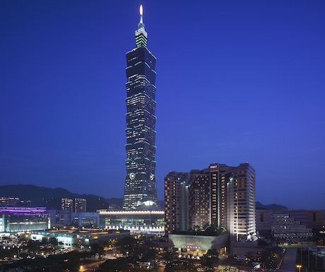 Grand Hyatt Taipei at night