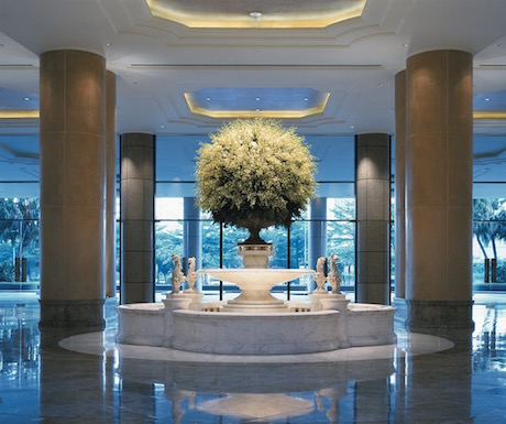 lobby at Grand Hyatt Taipei