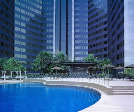 The inviting pool at Grand Hyatt Taipei.