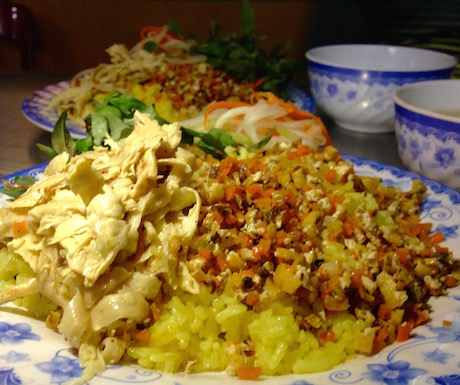 com ga chay vegan chicken and rice in Hoi An at Quan Chay An Nhu