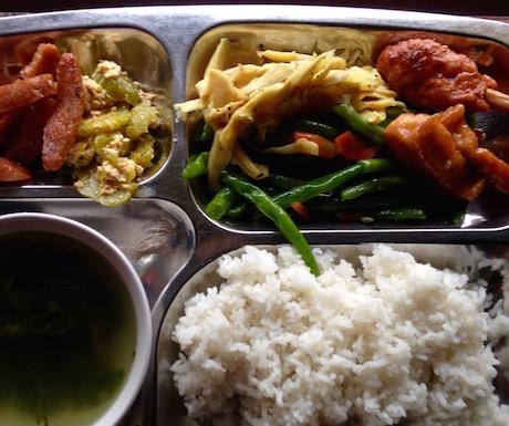 vegan food at Tam Quang Minh in Hoi An
