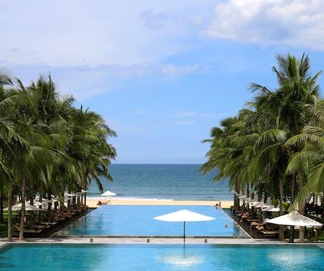 huge ocean facing pool at the Nam Hai