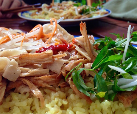 com ga chay vegan chicken and rice in Hoi An at An Lac