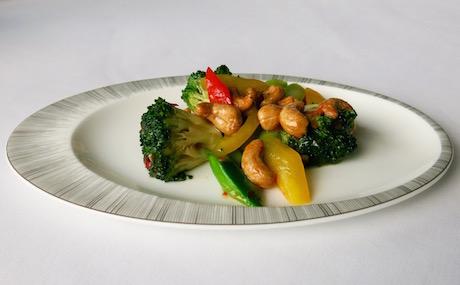 Wok-fried Broccoli with Cashew Nuts in Chili Sauce at Yan Toh Heen.