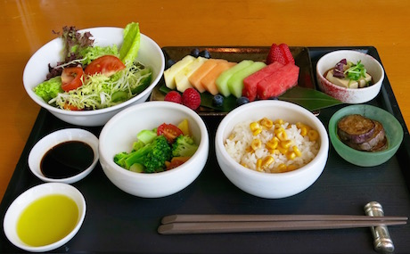 vegan breakfast platter at InterContinental Hong Kong