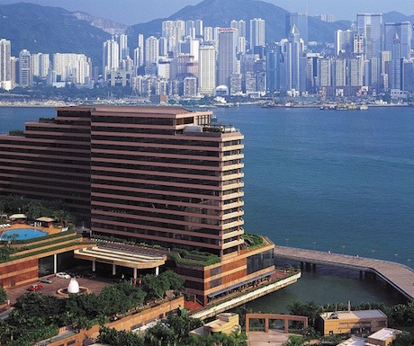 InterContinental Hong Kong has amazing views over Victoria Harbour.